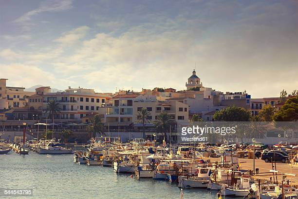 Spain, Baleares, Mallorca, view to marina of Cala Ratjada