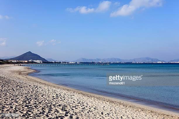 Spain, Balearic Islands, Majorca, Alcudia, View of beach