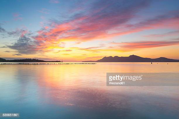 Spain, Balearic Islands, Mallorca, Can Picafort, Badia dAlcudia in the morning light