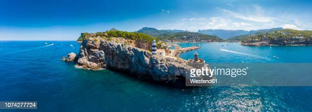 Spain, Balearic Islands, Mallorca, Serra de Tramuntana, Port de Soller, panoramic view