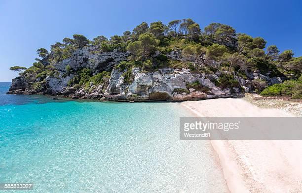 Spain, Balearic Islands, Menorca, view of Cala Macarelleta