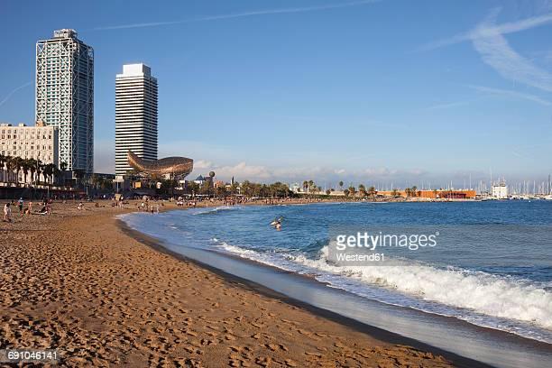 Spain, Barcelona, beach of La Barceloneta