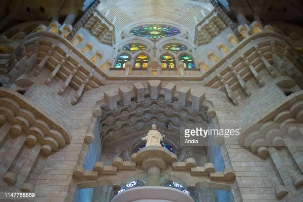 Interior of the Sagrada Familia .