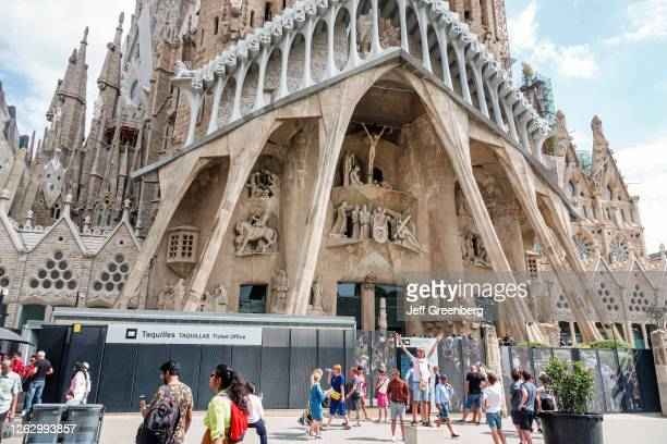 Spain, Barcelona, Sagrada Familia, Antoni Gaudi, tour ticket office .