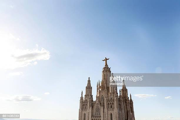 spain, barcelona, view to sagrat cor - sagrat cor stock pictures, royalty-free photos & images