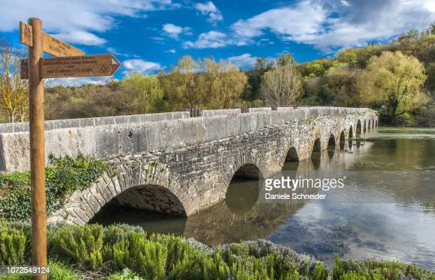 Spain, Basque Autonomous Community, Province of Alava, Pamplona in the environs of Vitoria-Gasteiz, bridge of Trespuentes over the Zadorra river