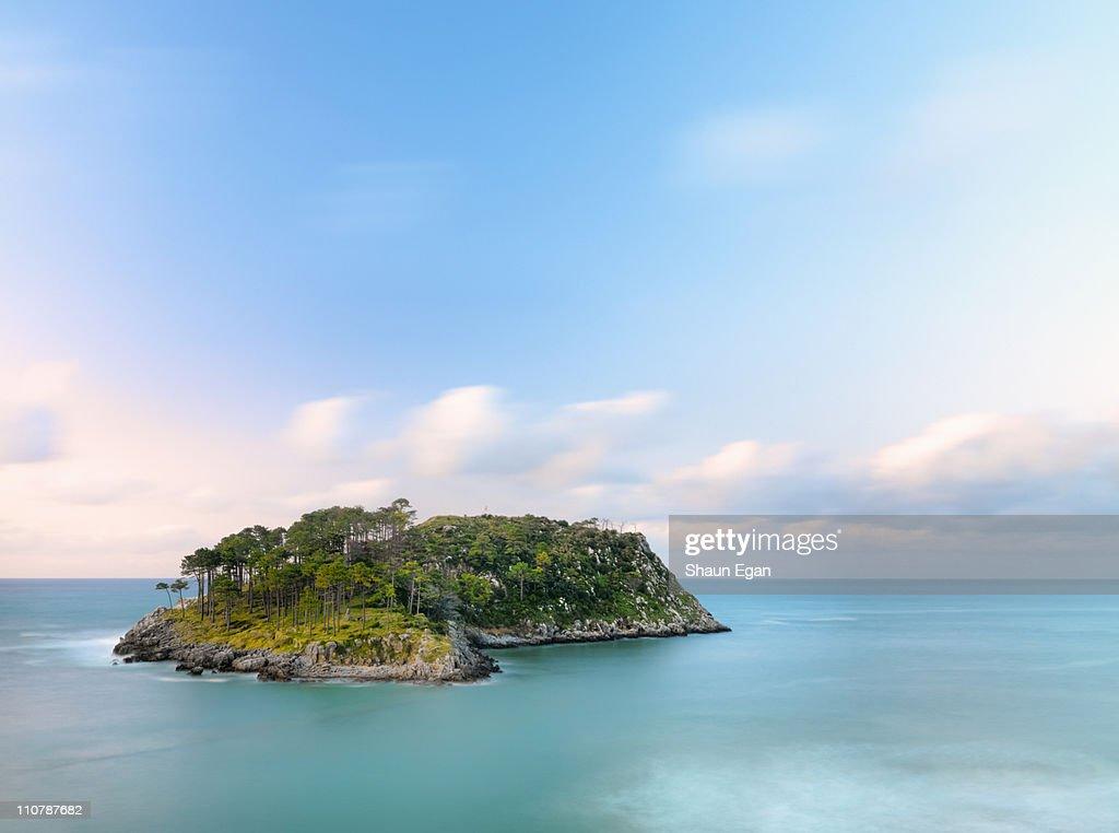 Spain, Basque, Lekeitio, San Nicolas island. : Photo