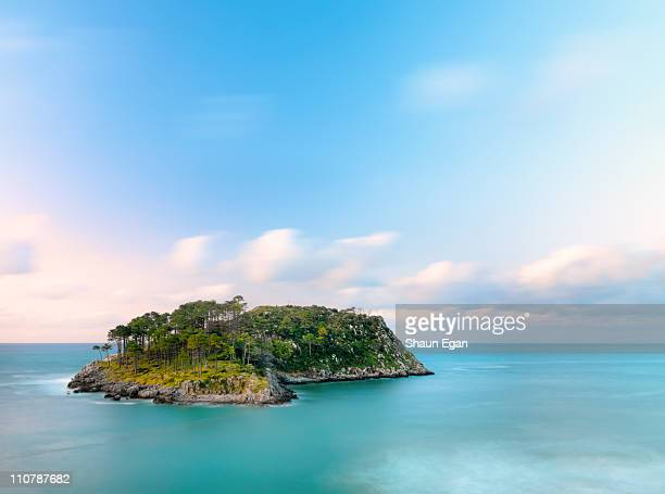 spain, basque, lekeitio, san nicolas island. - island stock pictures, royalty-free photos & images