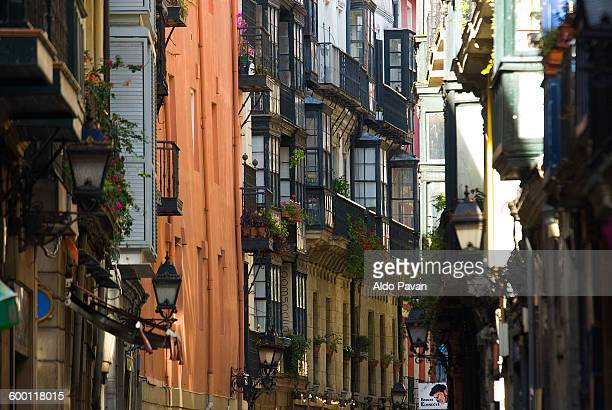 Spain, Bilbao, street of the old town