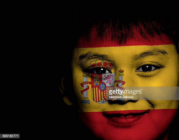 Spain boy football supporter