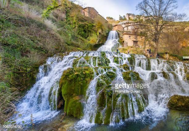 Spain Burgos Province Orbaneja del Castillo Citywaterfall