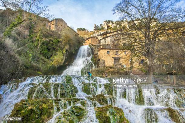 Spain ,Burgos Province, Orbaneja del Castillo City,waterfall