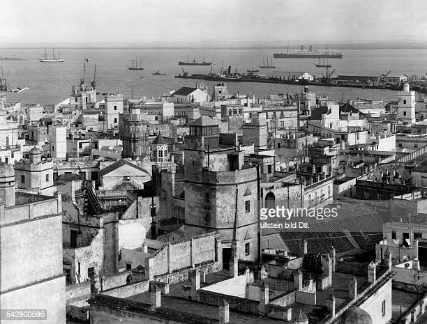 Spain Cadiz view over the city no date
