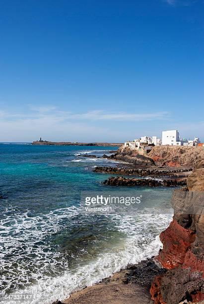 Spain, Canary Islands, Fuerteventura, El Puertito de la Cruz, Lighthouse at Punta de Jandia
