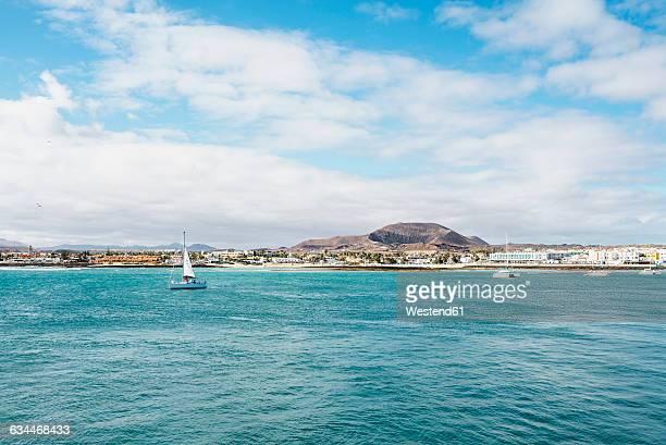 Spain, Canary Islands, Fuerteventura, view to Corralejo