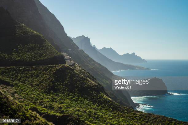 spain, canary islands, gran canaria, coastal road gc-200 at the north coast - grand canary stock pictures, royalty-free photos & images