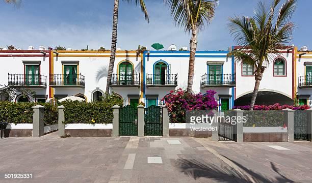 Spain, Canary Islands, Gran Canaria, Houses at Puerto de Mogan