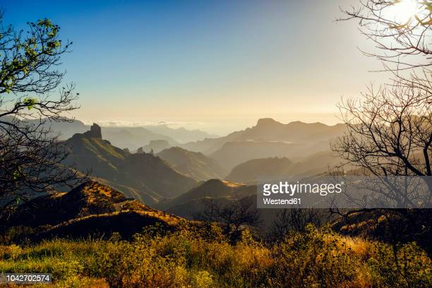 spain, canary islands, gran canaria, mountain landscape - grand canary stock pictures, royalty-free photos & images