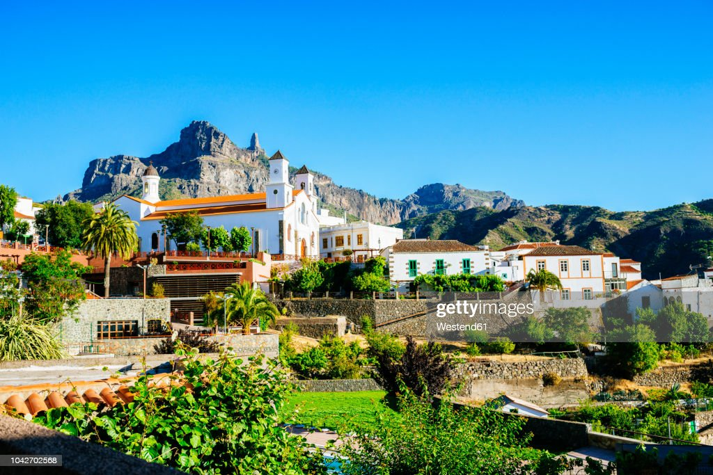 Spain, Canary Islands, Gran Canaria, Tejeda : Stock Photo