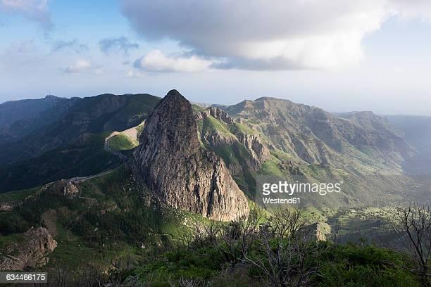 Spain, Canary Islands, La Gomera, Roque de Agando, Garajonay National Park