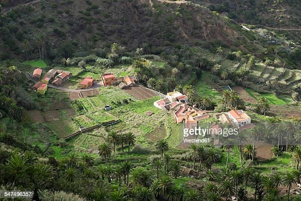 Spain, Canary Islands, La Gomera, Vallehermoso, View to Epina