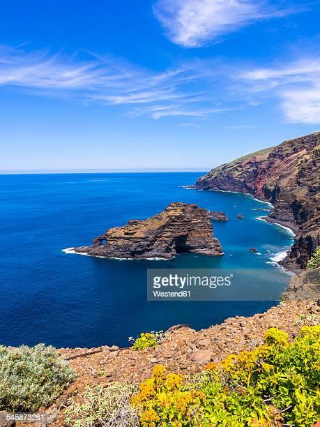 Spain, Canary Islands, La Palma, cliff coast at Garafia