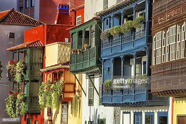 Spain, Canary Islands, La Palma, houses in Santa Cruz de la Palma