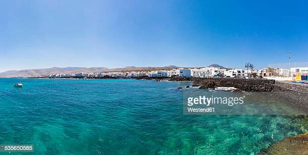Spain, Canary Islands, Lanzarote, Punta Mujeres, Fishing village Arrieta, Panorama