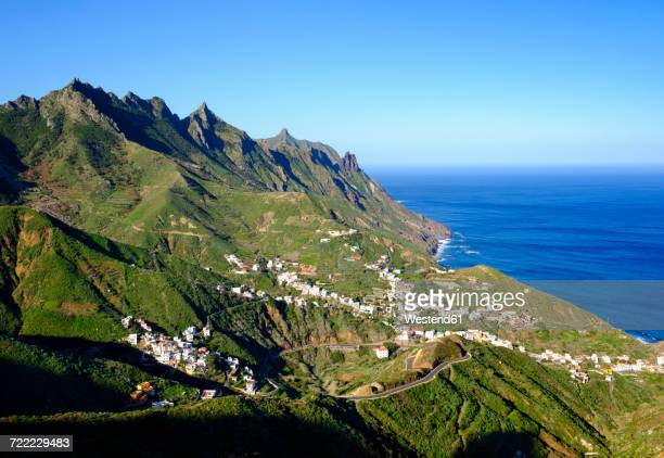 spain, canary islands, tenerife, anaga mountains, taganana - tenerife stock pictures, royalty-free photos & images