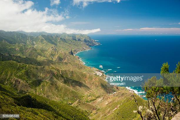 Spain, Canary islands, Tenerife, Cabezo del Tejo, View from Anaga mountains