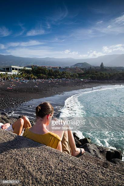 spain, canary islands, tenerife, exterior - punalu'u_beach stock pictures, royalty-free photos & images