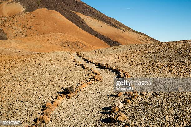 Spain, Canary Islands, Tenerife, Teide National Park, Montana Blanca, hiking path