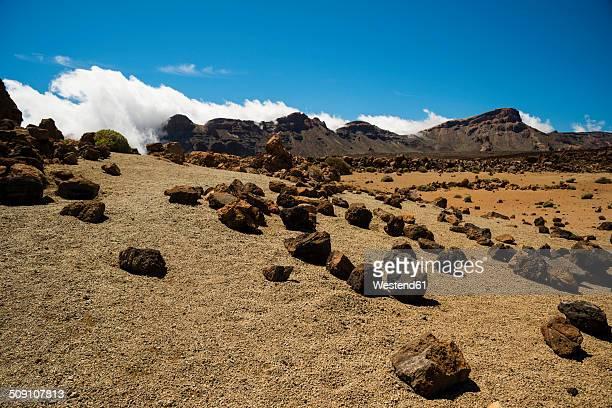Spain, Canary Islands, Tenerife, Teide National Park, Volcanic landscape, Plateau