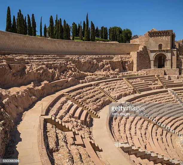 Spain, Cartagena, Ancient Roman amphitheater