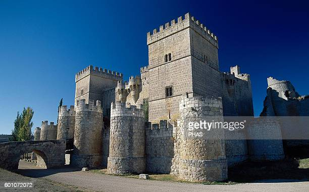 Spain Castile and Leon Ampudia Medieval Castle 15th century fortress