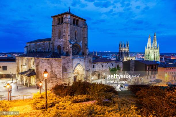 Spain, Castile and Leon, Burgos, Illuminated San Esteban Church