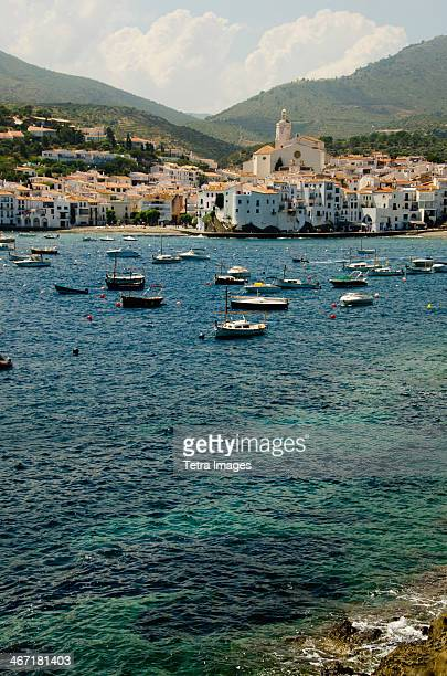 spain, catalonia, girona province, costa brava, view of cadaques - cadaques stock pictures, royalty-free photos & images