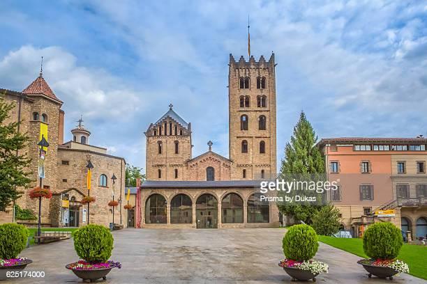 Spain Catalonia Girona Province Ripoll City Santa Maria de Ripoll Monastery 7th Century
