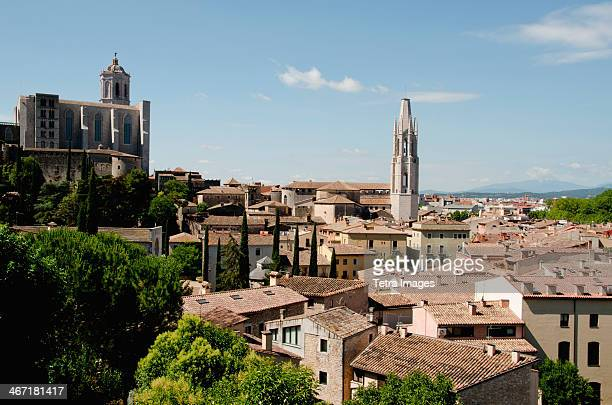 spain, catalonia, girona, townscape - gerona province stock photos and pictures