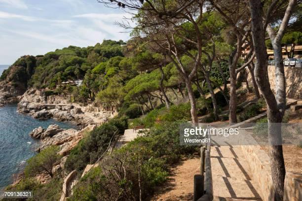 Spain, Catalonia, Lloret de Mar town, Costa Brava coastline