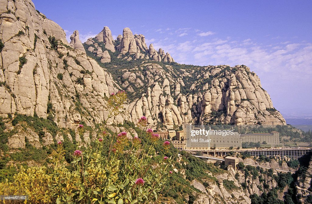 Spain, Catalonia, Province Barcelona, Montserrat : Stock Photo