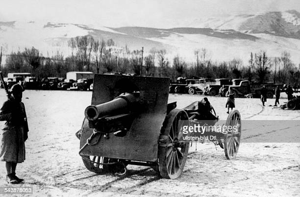 Spain civil war July36April39 Weapons and vehicles of republican who seeked refuge in french intrnemnt camps in the pyrenees near Saillagouse...