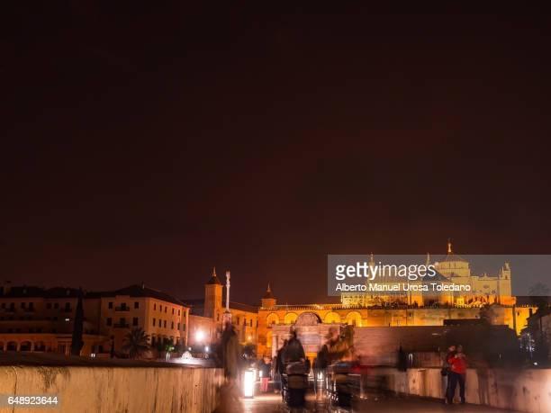 Spain, Cordoba, Cityscape from the Roman bridge
