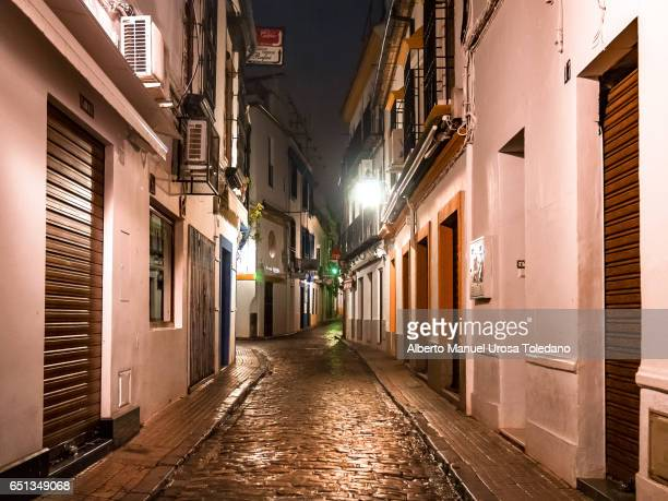 Spain, Cordoba, small alley in the Jewish Quarter