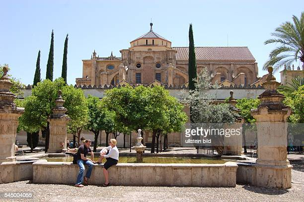 view from the courtyard to the mosque / cathedral Mezquita