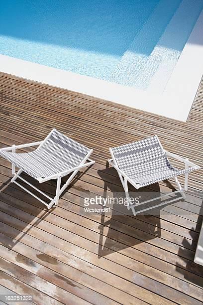 Spain, Deck chairs at Mallorca