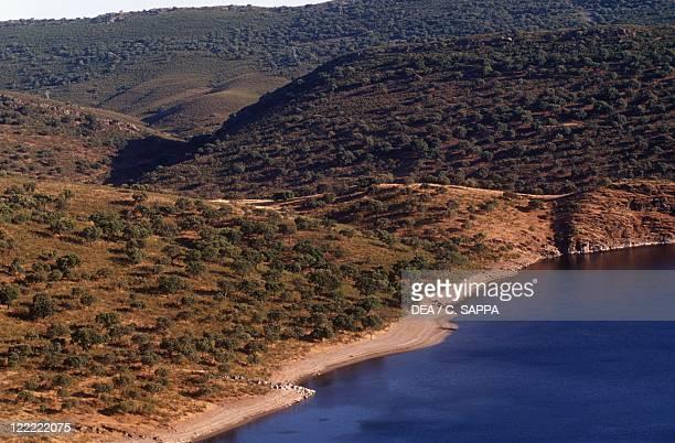 Spain - Extremadura - Monfrague National Park - Landscape nearby Villarreal de San Carlos.