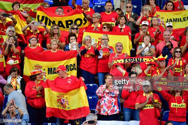 Spain fans during Day 2 of the Davis Cup semi final on September 15 2018 in Lille France