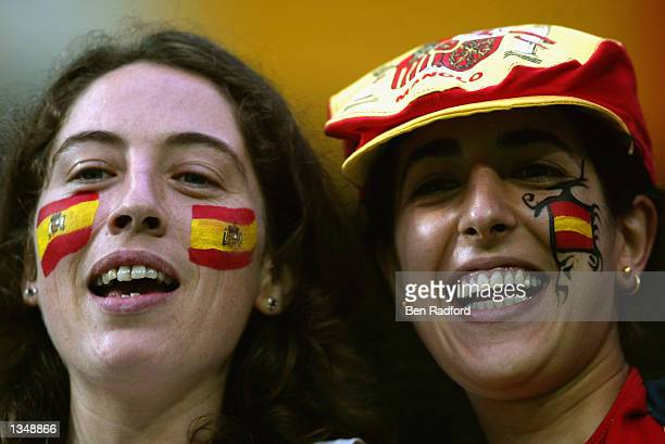 Spain fans during the Spain v South Africa, Group B, World Cup Group Stage match played at the Daejeon World Cup Stadium, Daejeon, South Korea on...