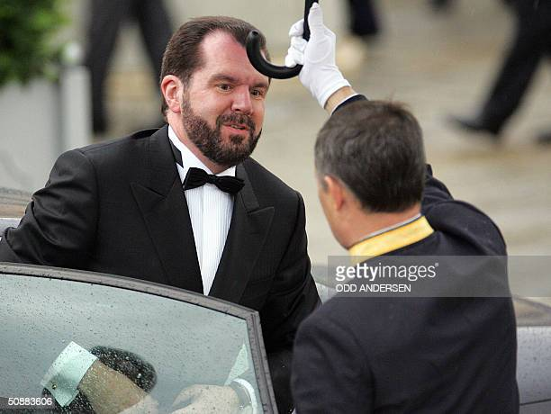 Father of the bride Jesus Ortiz arrives to attend an official diner at the Pardo Palace in Madrid 21 May 2004 on the eve of Spanish Crown Prince...